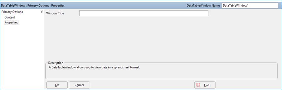 DataTableWindows