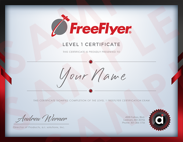 FreeFlyer Certification